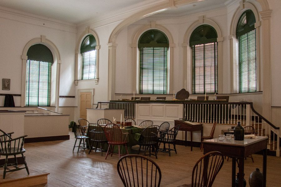 Inside Congress Hall in historic Old City Philadelphia.