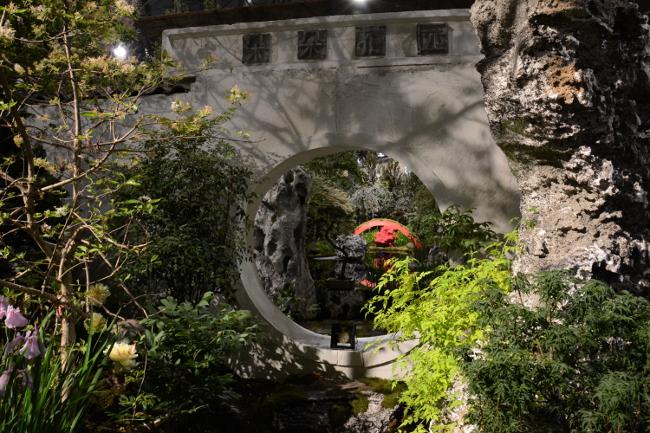 asian inspired design at the philadelphia flower show