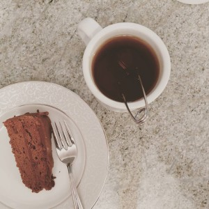 Homemade SacherTorte and tea I baked it special for myhellip