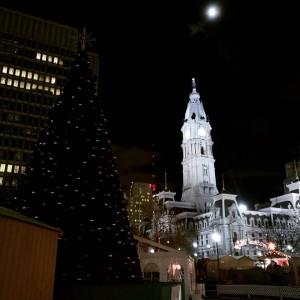 City Hall and the Philadelphia Christmas Market