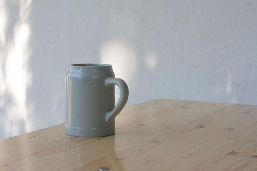 A German Steinkrug, or beer mug.