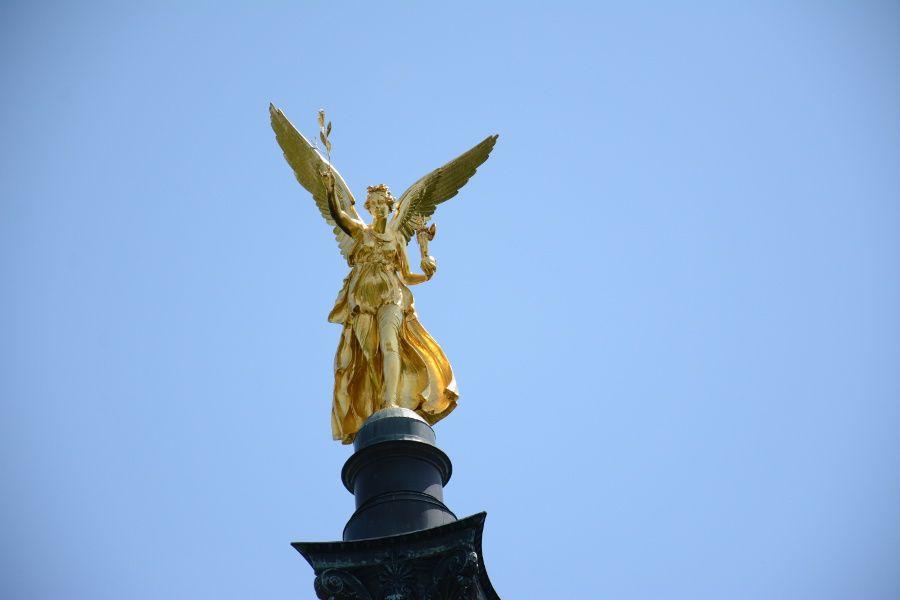 Friedensengel or Angel of Peace in Munich, Germany.