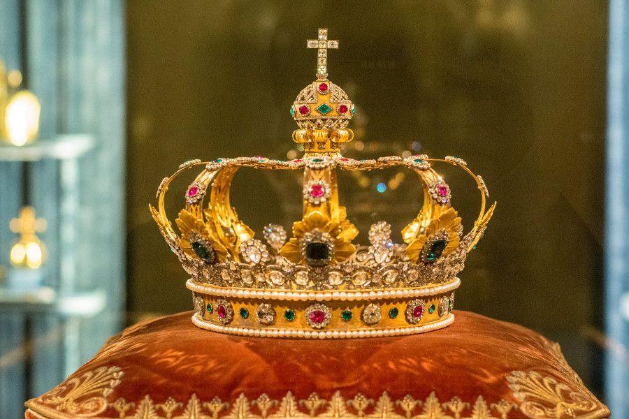 The crown of Bavarian kings from the Munich Residenz Schatzkammer.