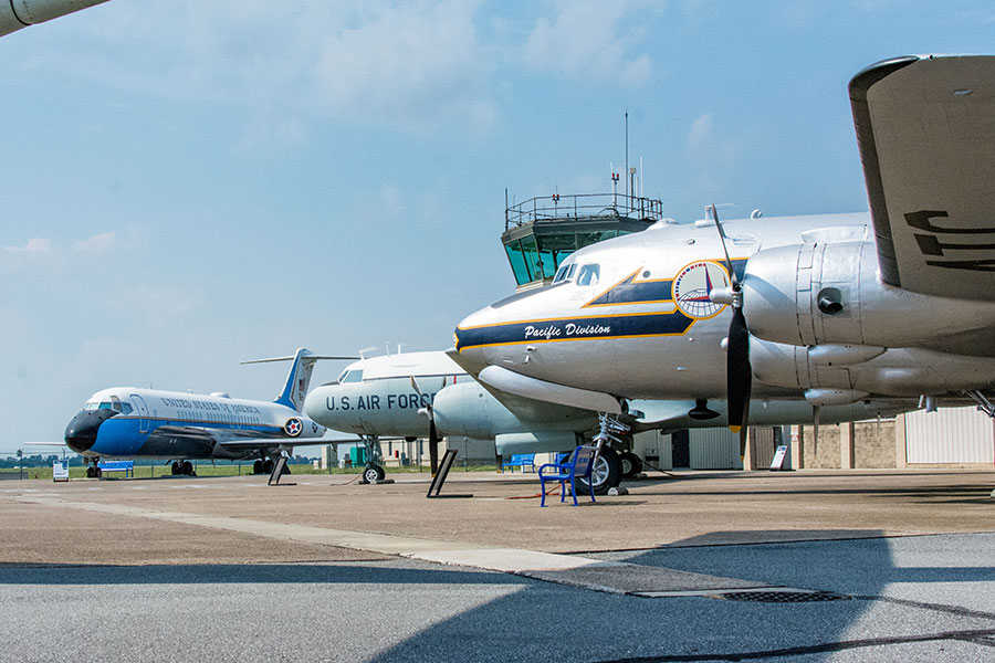 Aircraft on display at the Air Mobility Command Museum in Dover, Delaware.