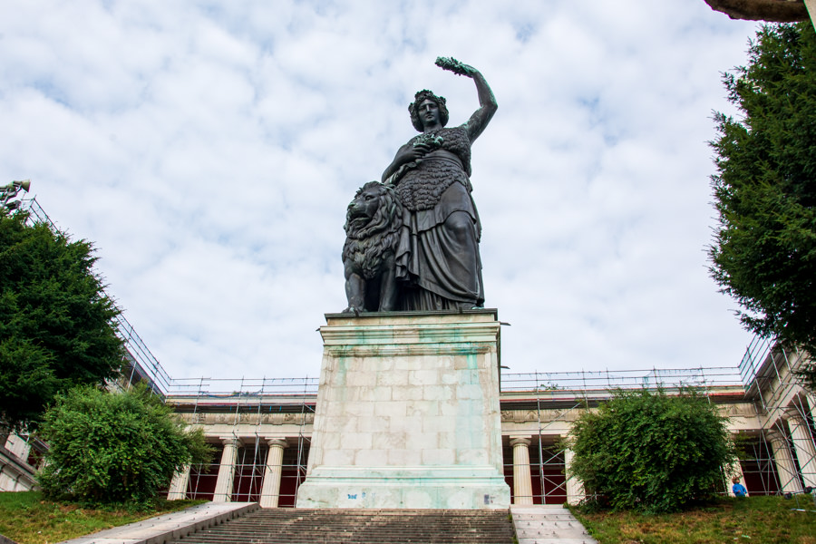 Bavaria Statue and Ruhmeshalle (Hall of Fame) in Munich, Germany