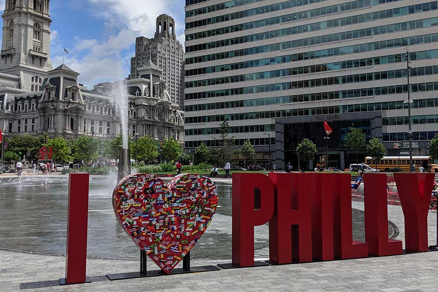 Celebrate summer in Philadelphia with a visit to LOVE Park.