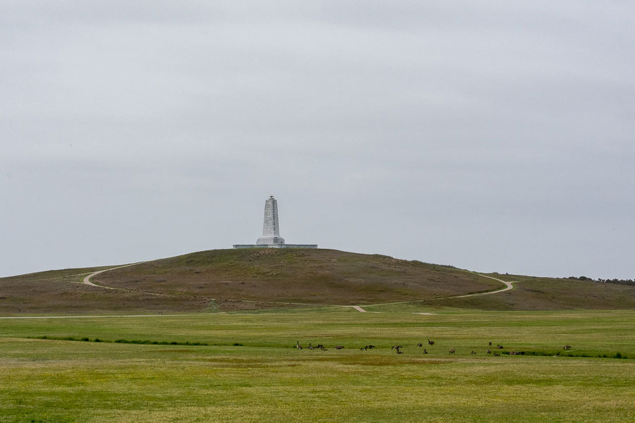 Wright Brothers National Memorial in Kitty Hawk, North Carolina.